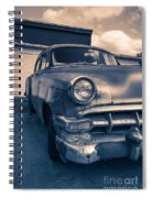 Old Car In Front Of Garage Spiral Notebook