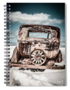 Old Car In The Snow Spiral Notebook
