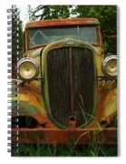 Old Cars Left To Decorate The Weeds Spiral Notebook