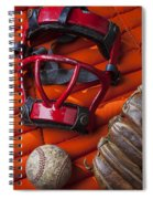 Old Catcher Mask Spiral Notebook