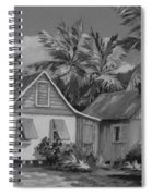 Old Cayman Cottages Monochrome Spiral Notebook