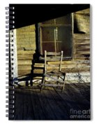 Old Chair On Old Porch Spiral Notebook