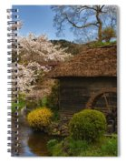 Old Cherry Blossom Water Mill Spiral Notebook