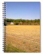 Old Chicken House On A Farm Field Spiral Notebook