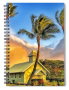 Old Church At Honokawai Maui Spiral Notebook