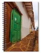 Old Colonial Street Corner Spiral Notebook