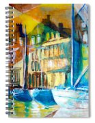 Old Copenhagen Thru Stained Glass Spiral Notebook