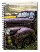Old Dairy Farm Truck Spiral Notebook