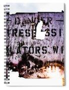 Old Danger Spiral Notebook