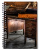 Old Desk In The Attic Spiral Notebook
