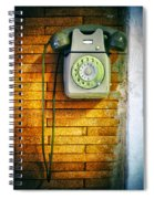 Old Dial Phone Spiral Notebook