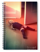 Old Doll On Floor Spiral Notebook