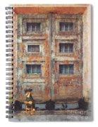 Old Door - Aged - Cracked - Abandoned Spiral Notebook