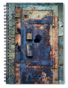 Old Door At Abandoned Prison Spiral Notebook