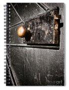 Old Door Lock Spiral Notebook