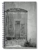Old Doorway Bw Spiral Notebook