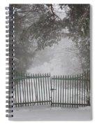 Old Driveway Gate In Winter Spiral Notebook