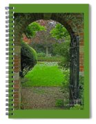 Old English Garden Spiral Notebook
