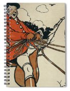 Old English Sports And Games Hunting Spiral Notebook