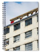 Old Factory Under A Clear Blue Sky Spiral Notebook