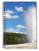 Old Faithful Geyser In Yellowstone National Park  Spiral Notebook