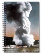 Old Faithful Geyser Yellowstone Np Spiral Notebook