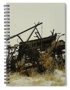 Old Farm Equipment Northwest North Dakota Spiral Notebook