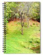 Old Farm House And Pond Spiral Notebook