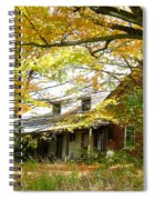 Old Farm House Behind Color Spiral Notebook