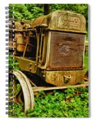Old Farm Tractor Spiral Notebook