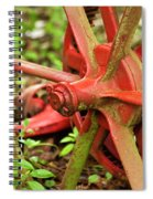 Old Farm Tractor Wheel Spiral Notebook