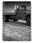 Old Farm Truck Black And White Spiral Notebook