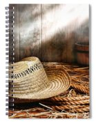 Old Farmer Hat And Rope Spiral Notebook