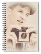 Old Fashion Male Freelance Photographer Spiral Notebook
