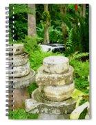 Old Fashion Stone Bean Grinder Spiral Notebook