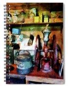 Old-fashioned Coffee Grinder Spiral Notebook