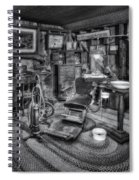 Old Fashioned Dentist Office Bw Spiral Notebook