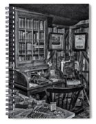 Old Fashioned Doctor's Office Bw Spiral Notebook