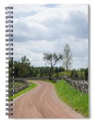 Old Fashioned Gravel Road Spiral Notebook