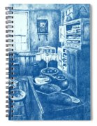 Old Fashioned Kitchen In Blue Spiral Notebook