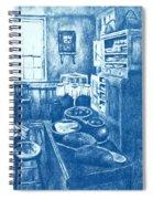 Old Fashioned Kitchen In Blue Spiral Notebook