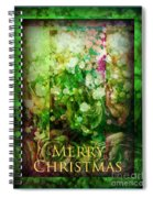 Old Fashioned Merry Christmas - Roses And Babys Breath - Holiday And Christmas Card Spiral Notebook