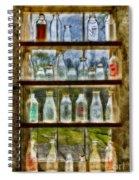 Old Fashioned Milk Bottles Spiral Notebook