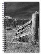Old Fence At Mount Lassen Spiral Notebook