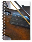 Old Fiddle And Bow Still Life 2 Spiral Notebook