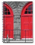 Old Fire Hall Doors Spiral Notebook