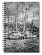 Old Fishing Boats Spiral Notebook