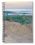 Old Fishing Net On Beach Spiral Notebook