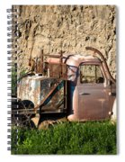 Old Flatbed International Truck Spiral Notebook