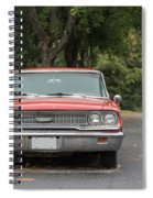 Old Ford Galaxy In The Rain Spiral Notebook